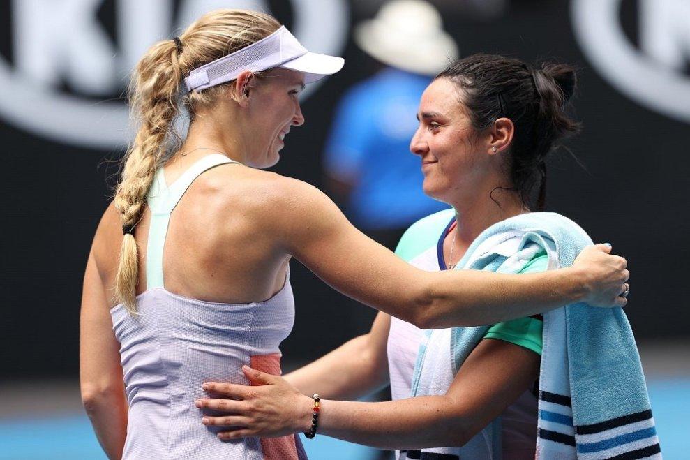 Wozniacki Jabeur Australian Open 2020