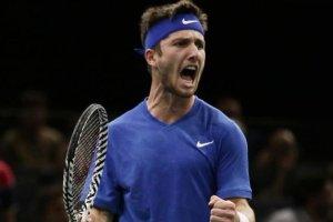 Moutet Wawrinka ATP Doha 2020