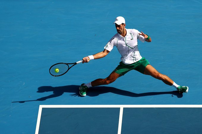 Djokovic Nishioka Open Australia 2020