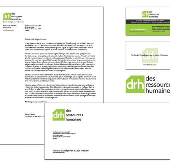 DRH printed materials