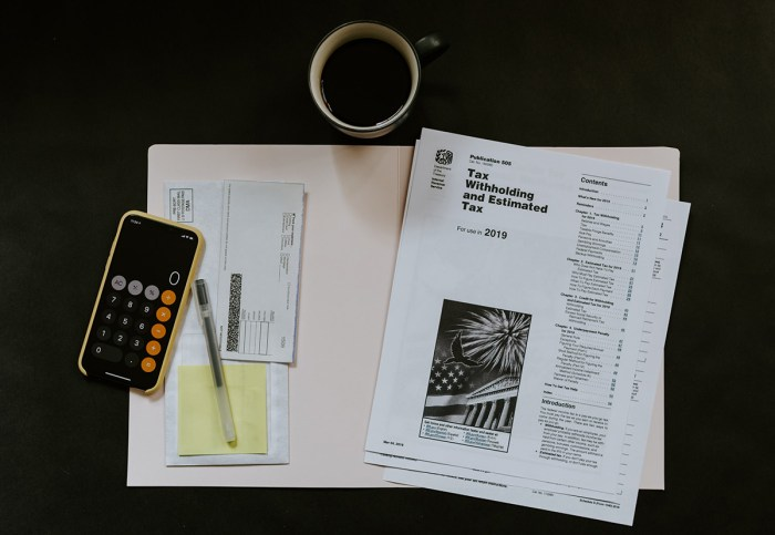 tax documents on table