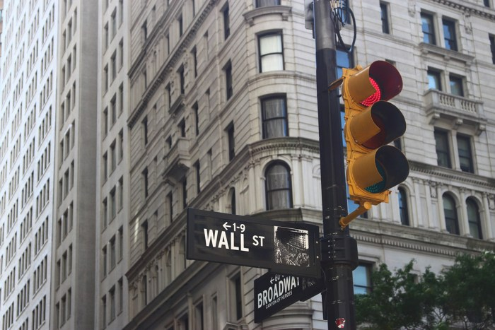 wall street stock market 2020