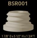 bsr001 round column base