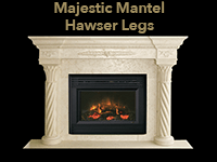 majestic mantel with hawser legs