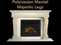 polynesian mantel with majestic legs