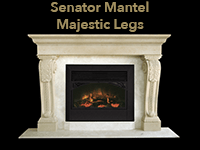senator mantel with majestic legs