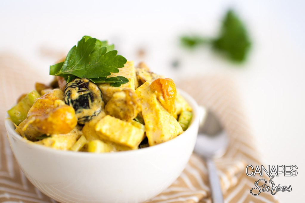 Cashew Raisin Curry Chicken Salad