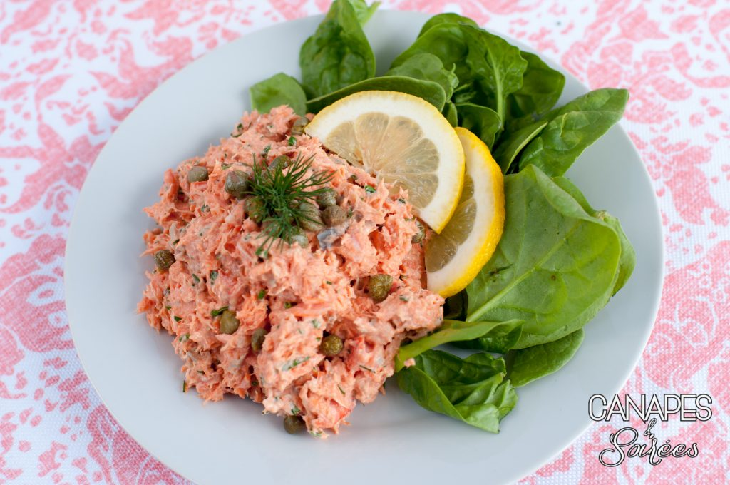 The best salmon salad plated