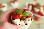 Easy Low Carb Caprese Salad Cup