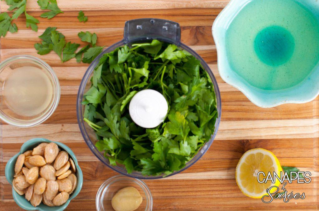Parsley Almond Pesto Ingredients for Making