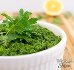 Whole30 Parsley Almond Pesto In a Bowl