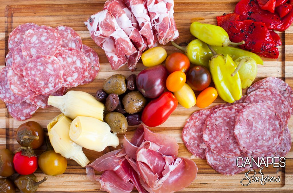 Ingredients for Antipasto Salad