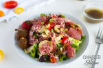 Plated Low Carb and Antipasto Salad