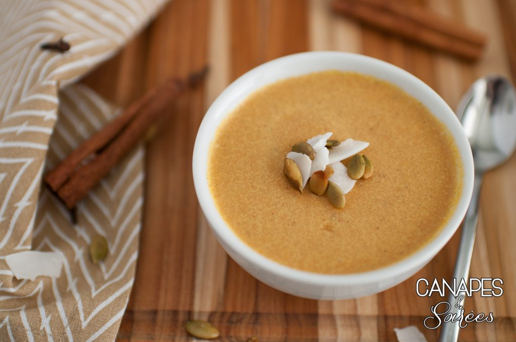Low Carb Pumpkin Coconut Cream Panna Cotta