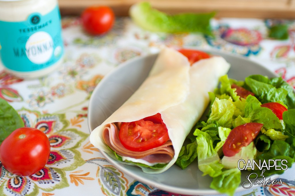 Low Carb Folios Sandwich Wraps with Tessemae's Mayonnaise