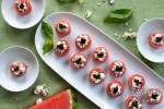 Watermelon Feta Balsamic Canapés