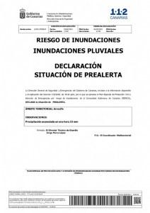 El Consorcio de Seguridad y Emergencias alerta del posible riesgo de inundaciones en Arrecife