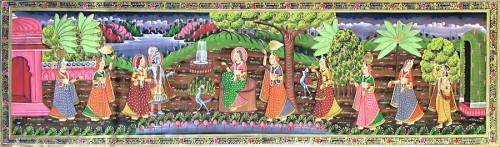 krishna con rukmini satyabhama