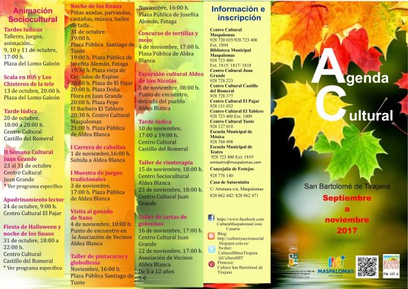 Agenda Cultural - San Bartolome de Tiraja - SEPNOV17