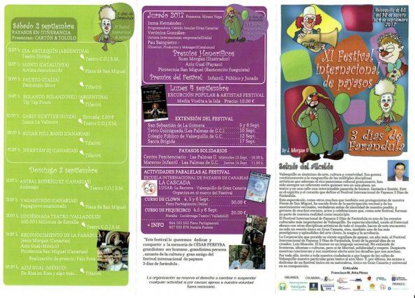 Programa Festival XI Payasos