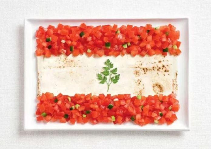Bandera Libano - Lavash, Fattoush y Hierbas
