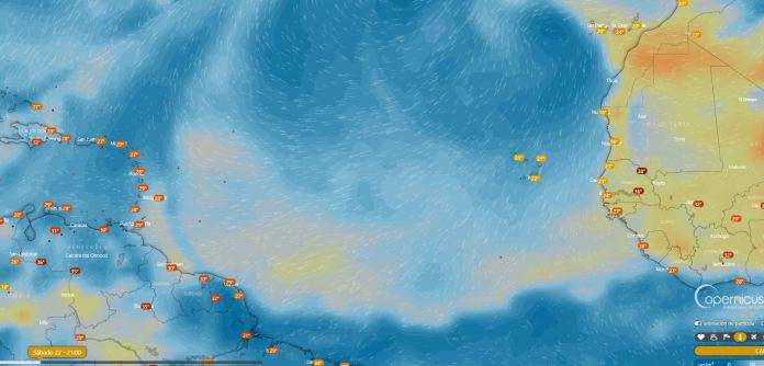 Particulas de calima PM2.5 en Air Atlantico