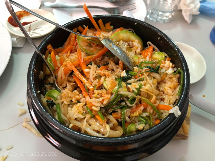 Bibimbap Coreano mezclado