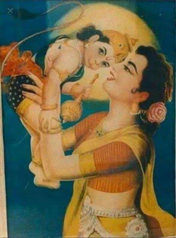 anjana and baby hanuman