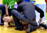 La dolorosa lesión de tobillo de Chambers / Foto: José Luis Sandoval