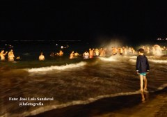 el baño purificador de San Juan, playa de Las Canteras