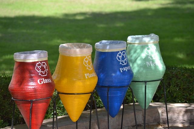 clasificación de los residuos reciclables.