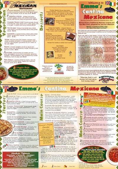 Brochures Menus Canariaspace