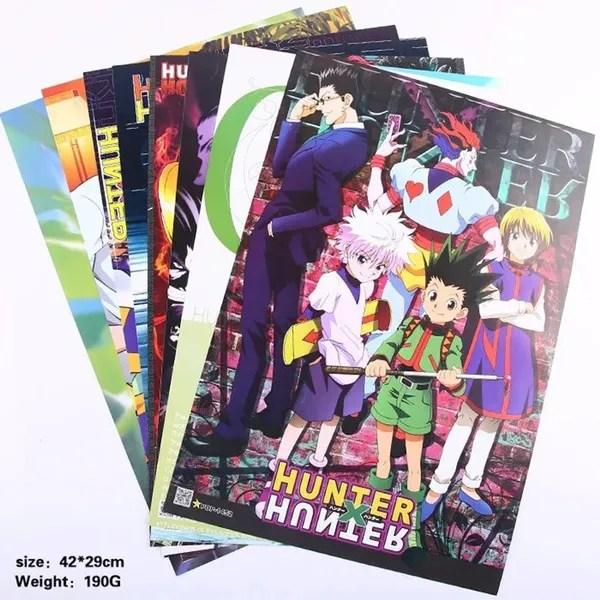 anime posters of hunter x hunter 8pcs lot wish