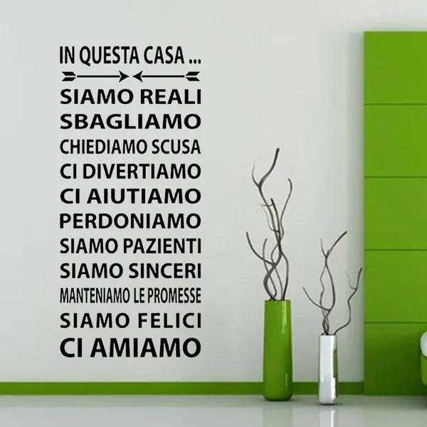 Adesivo da parete in vinile con frase in italianose puoi sognarlo puoi farlo adesivi murali frasi in italiano citazione, decorazione da parete. Wall Sticker Adesivi Murali Adesivo Murale Frasi In Questa Casa Wish