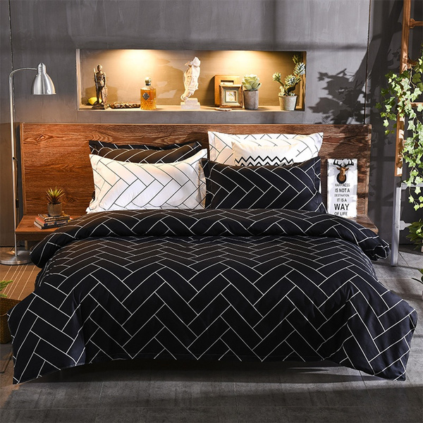 classic black and white checkered bed pillowcases duvet cover set quilt cover set twin queen king size wish