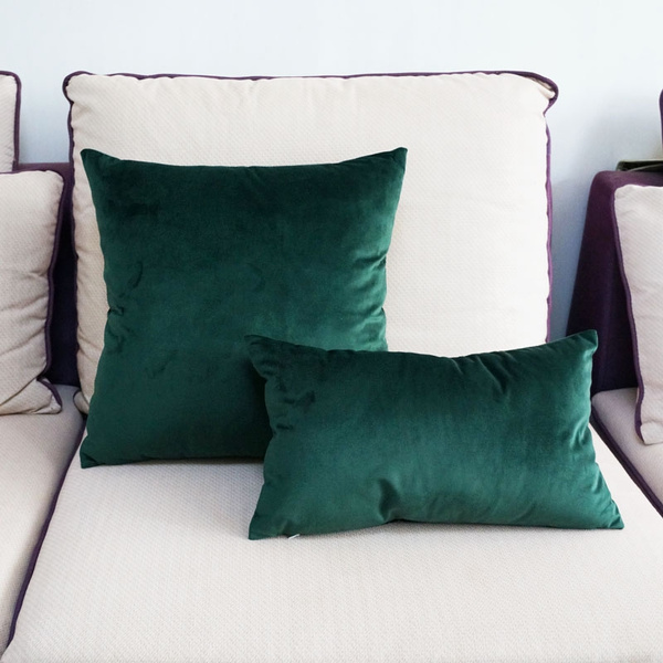 high quality soft emerald green velvet pillow case cushion cover dark green pillow cover no balling up without stuffing wish