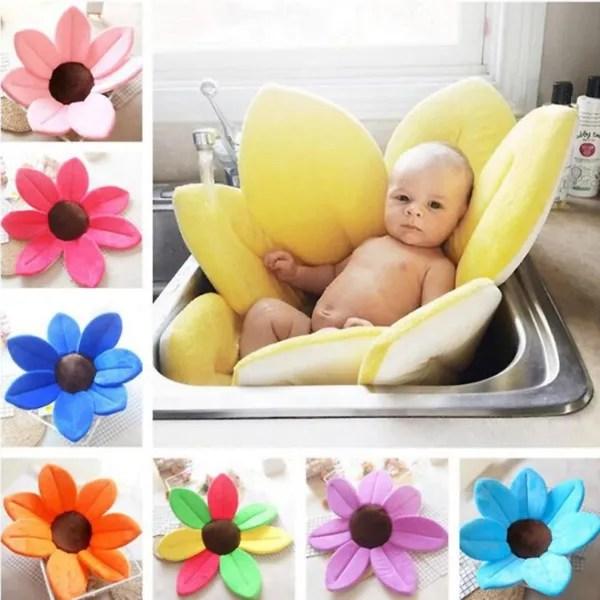 baby bath cushion newborn bathtub seat soft liner infant sink shower babies lotus sunflower flower cushion 2 6ft wish