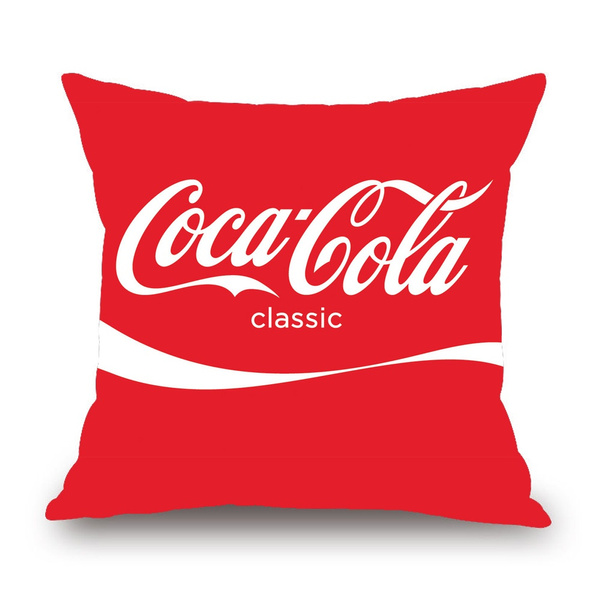 funny coca cola red cotton pillow case covers throw pillow case sofa cushion cover ideal gifts perfect decor decoration for home bedroom sofa book