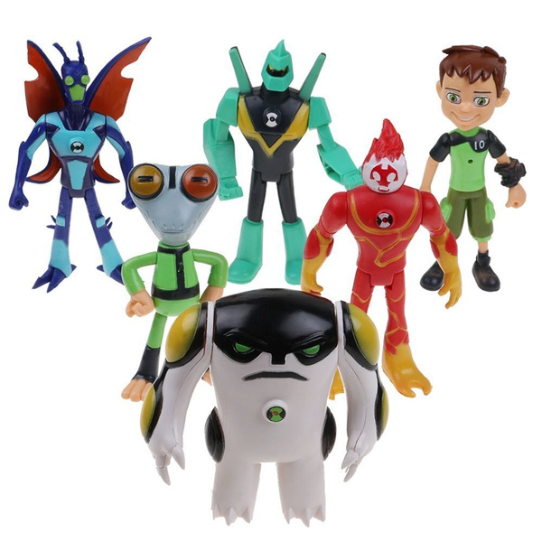 6pcs Action Figures Toys Kids Gifts Toy Pvc Collections Christmas Model For Ben 10 Wish