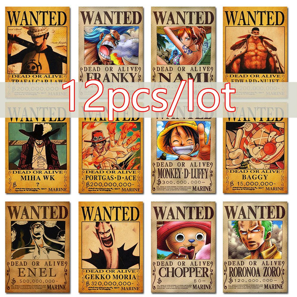 This is currently the biggest bounty increase seen from anyone thus far. 12pcs Set Newest One Piece Straw Hat Pirates Set Luffy Ace Zoro Chopper Wanted Poster After Dressrosa Ko Donquixote Doflamingo And D Ace Law Sabo Size 30x21cm Wish