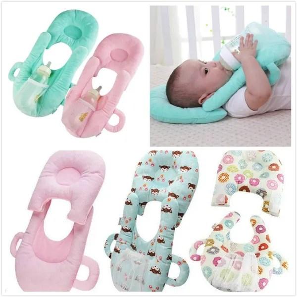 detachable baby nursing bottle holder pillow learning toys washable 3 in 1 multi function baby pillow with feeding bottle holder baby learning toys