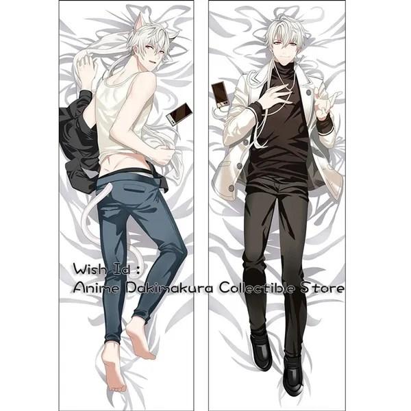 mystic messenger dakimakura zen anime boy hugging body pillow case cover wish