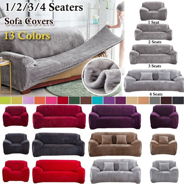 2019 warm 1 4 seaters thick plush recliner sofa covers retro recliner sofa cover soft couch slipcovers 13 colors wish