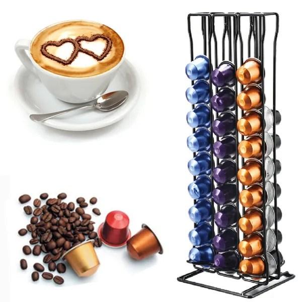 sononia porte capsules de cafe rotatif pour capsules nespresso acier wish