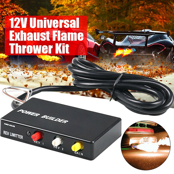 universal fits 12v car suv aircraft exhaust flame thrower kit burner afterburner ignition rev limiter launch fire controller engine wish