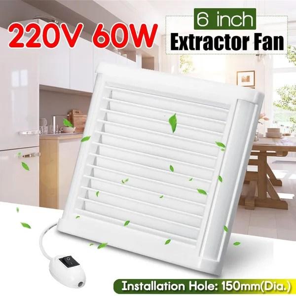 6 home fan bathroom garage exhaust fan window and wall mount fan for kitchen bathroom ventilation 220v wish