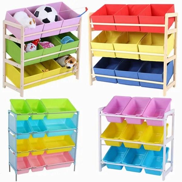 kids toy storage rack shelf cabinet containers children clothes organizer wish