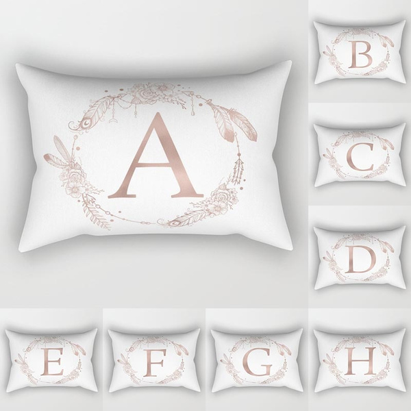 26 rose gold letter pattern print pillowcases 12x20 inches peach skin simply decorative pillows cushion cover home decor wish