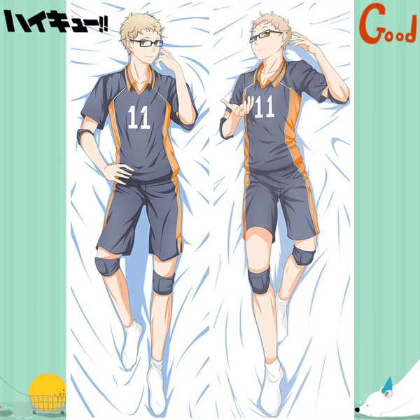 anime pillow case cover 150x50cm haikyuu haikyuu tsukishima kei dakimakura hugging body pillow case wish