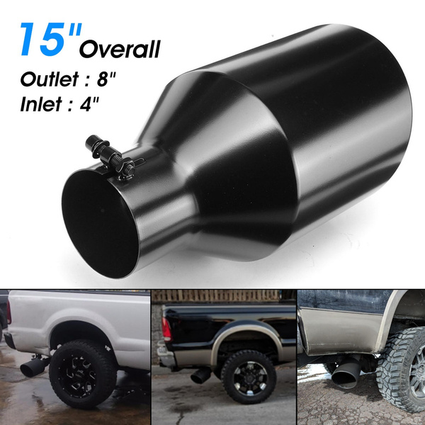 universal stainless steel exhaust tip diesel 4 inlet 8 outlet 15 long wish